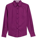 Ladies Long Sleeve Button Down Shirt  L608