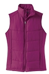 Ladies Puffy Vest  L709-----   (NEW)